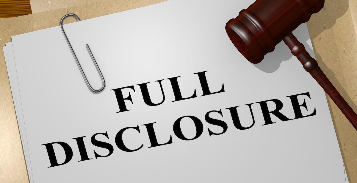 Suscipious Disclosures - News